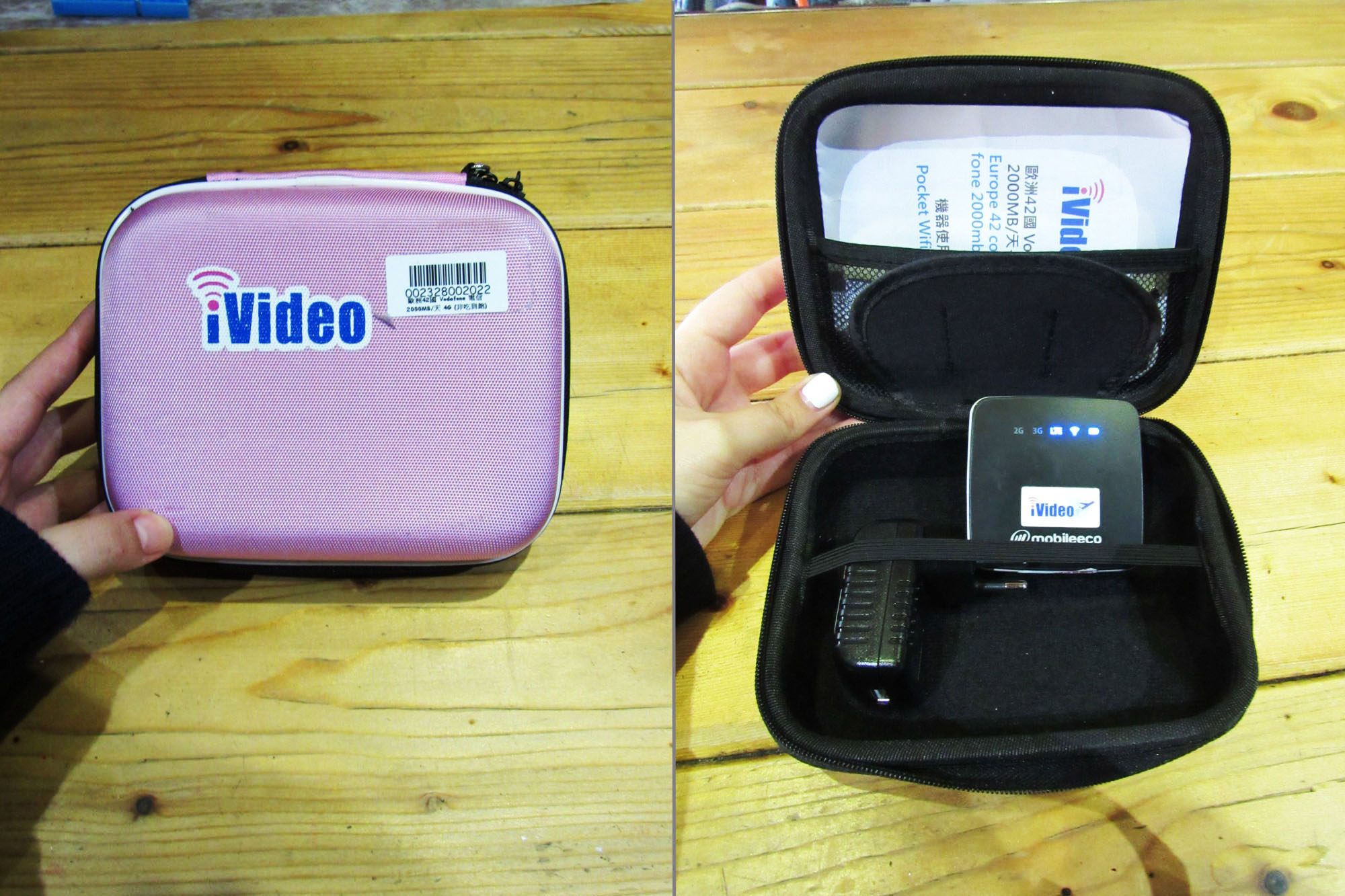 iVideo pocket wifi - CLARA on the road