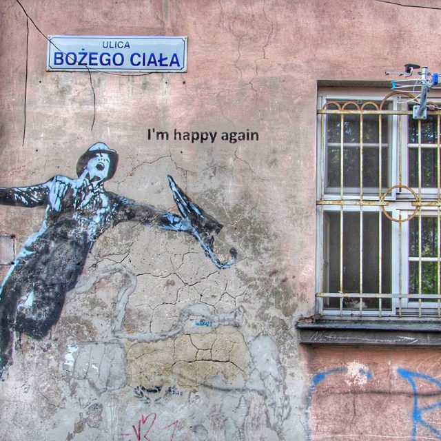 Street art in Krakow This is by Kuba that useshellip