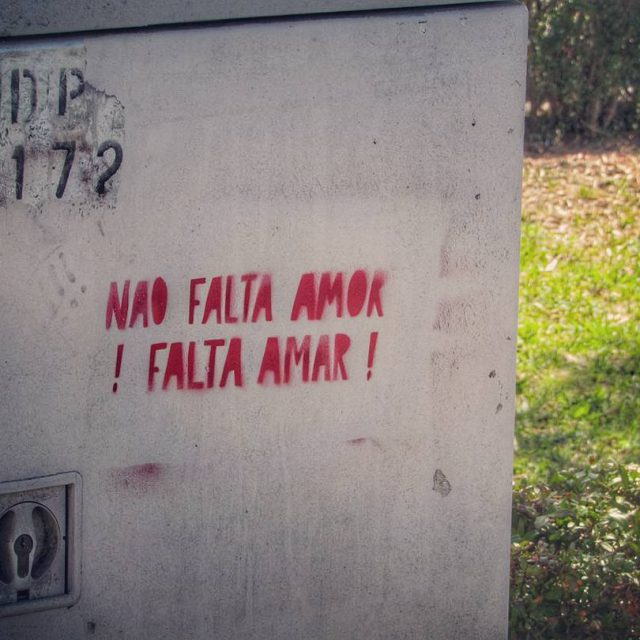 Urban poetry in Lisbon Theres not a love lack ithellip